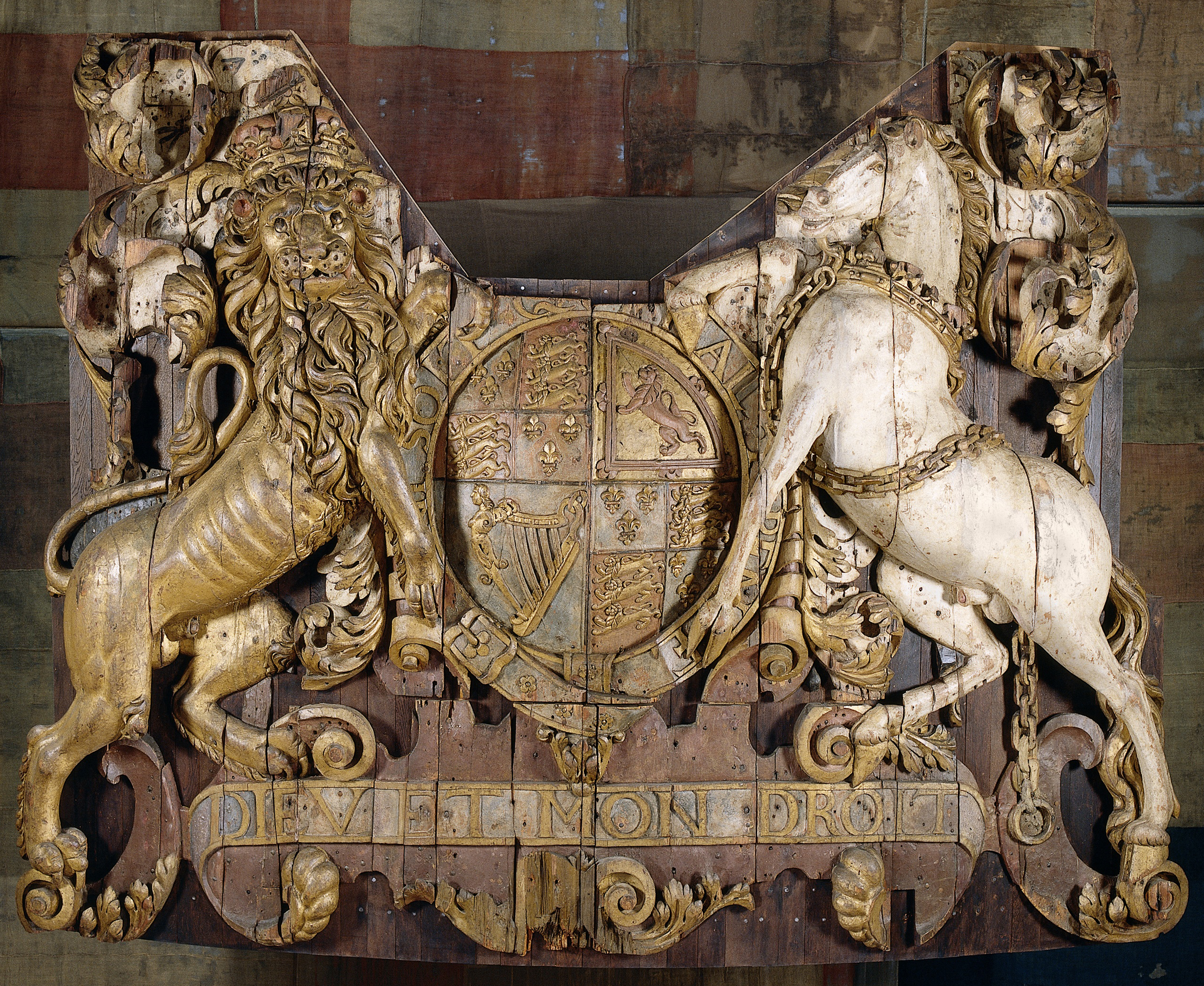 the history blog blog archive dutch loan england piece from  stern carving from royal charles